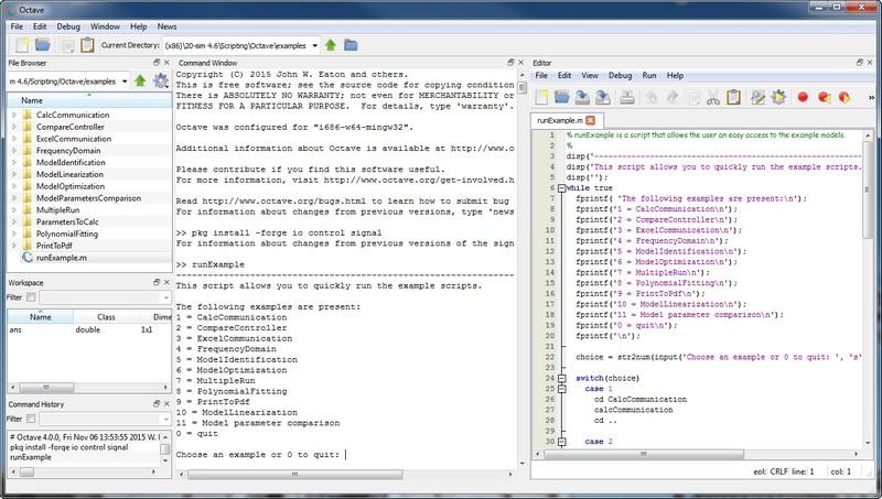 20-sim webhelp > Toolboxes > Scripting Toolbox > Scripting in Octave